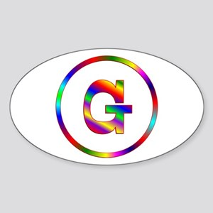 Letter G Sticker (Oval)
