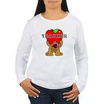 Teachers Apple Bear Women's Long Sleeve T-Shirt