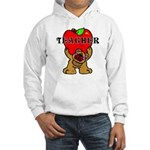 Teachers Apple Bear Hooded Sweatshirt