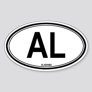 Alabama (AL) euro Oval Sticker