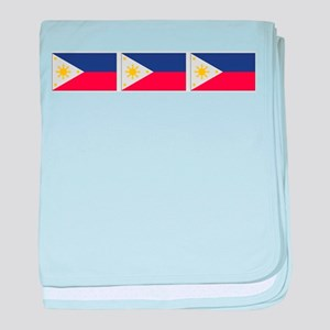 Philippine Flags baby blanket