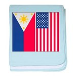Philippine Flag & US Flag baby blanket