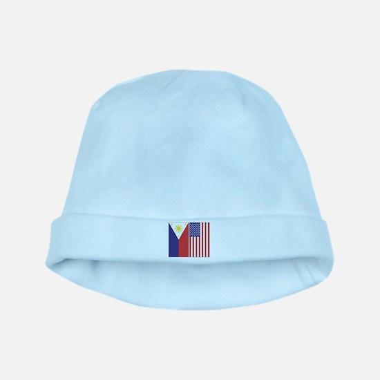 Philippine Flag & US Flag baby hat