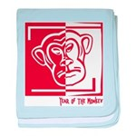 Year of the Monkey baby blanket