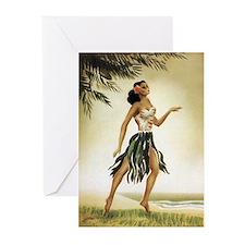 Hawaiian Dancer Greeting Cards (Pk of 10)