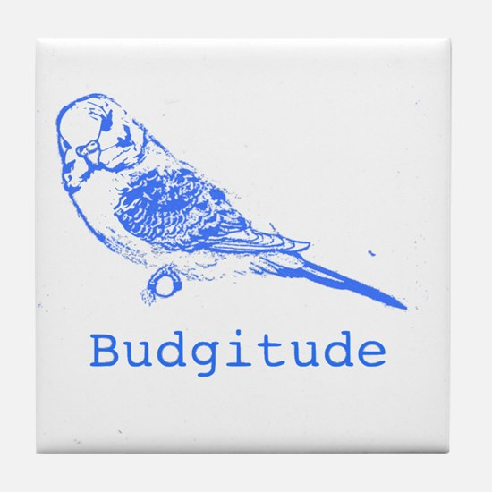 Cute Blue parakeet Tile Coaster