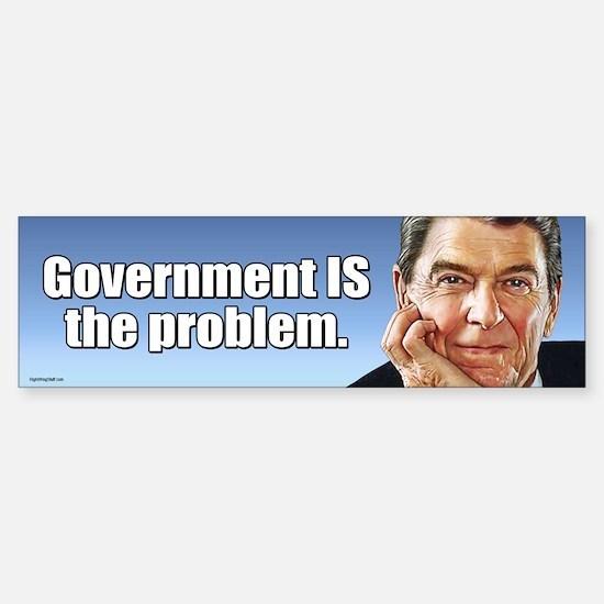 Reagan - Gov't. is the Problem Sticker (Bumper)