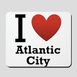I Love Atlantic City Mousepad