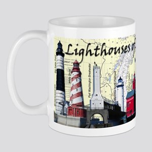 Lighthouses Of Lake Michigan Mug Mugs