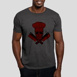 Chef Skull--dark red-- Dark T-Shirt