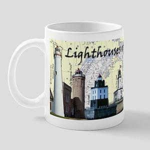 Lighthouses Of Lake Huron Mug Mugs