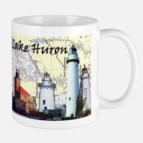 Lighthouses Of Lake Huron Mug Mugs