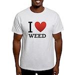 I Love Weed Light T-Shirt
