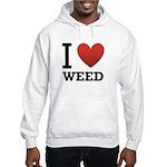 I Love Weed Hooded Sweatshirt