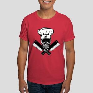 Chef Skull--B&W-- Dark T-Shirt