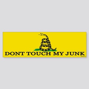 Don't Touch My Junk Sticker (Bumper)