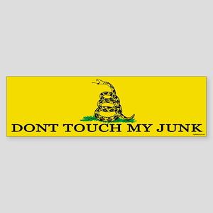 Don't Touch My Junk Sticker (Bumper)