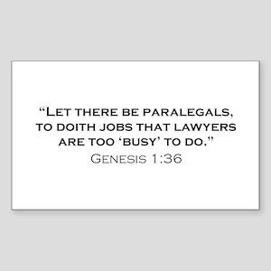 Paralegal / Genesis Sticker (Rectangle)