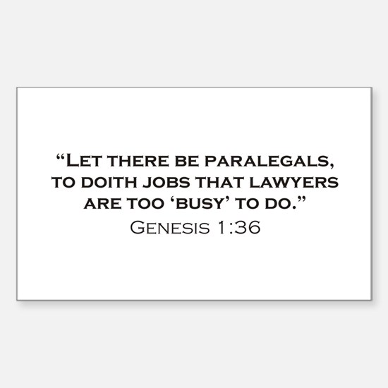 Paralegal / Genesis Sticker (Rectangle)