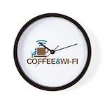 Coffee & Wi-Fi Wall Clock