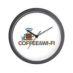 Coffee & Wi-Fi Wall Clock