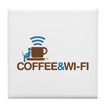 Coffee & Wi-Fi Tile Coaster