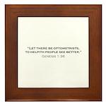 Optometrist / Genesis Framed Tile
