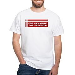 Denmark For Freedom White T-Shirt