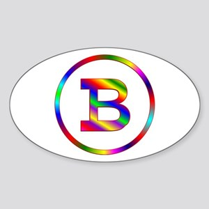 Letter B Sticker (Oval)