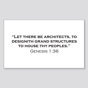Architect / Genesis Sticker (Rectangle)