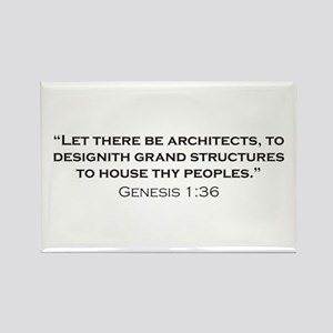 Architect / Genesis Rectangle Magnet