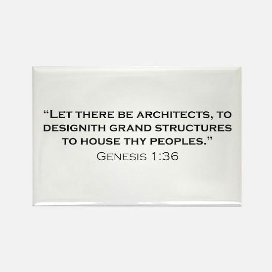 Architect / Genesis Rectangle Magnet