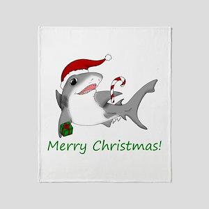 Christmas Shark Throw Blanket
