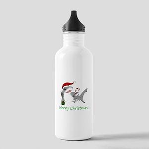 Christmas Shark Stainless Water Bottle 1.0L
