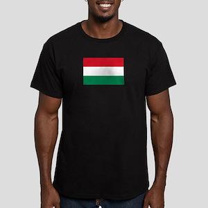 Hungary flag Men's Fitted T-Shirt (dark)