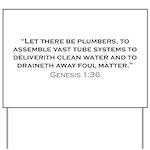 Plumber / Genesis Yard Sign