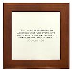 Plumber / Genesis Framed Tile