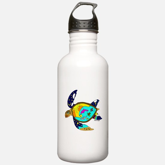 Earth Day Sea Turtle Water Bottle