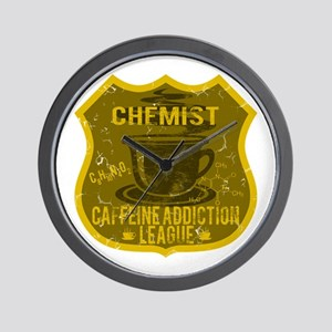 Chemist Caffeine Addiction Wall Clock