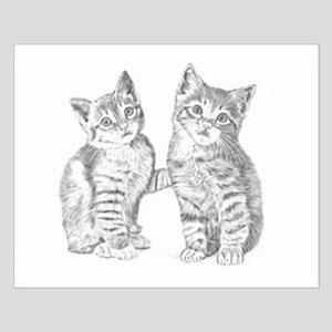 Tabby kittens Small Poster