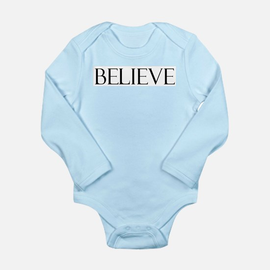 Believe Long Sleeve Infant Bodysuit