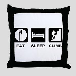 eat seep climb Throw Pillow
