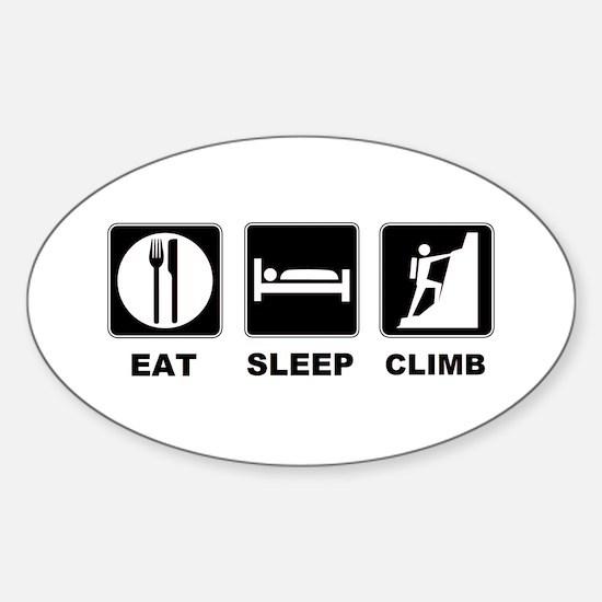 eat seep climb Sticker (Oval)