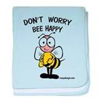 Don't Worry Bee baby blanket