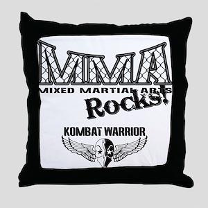 MMA Rocks Grey Throw Pillow