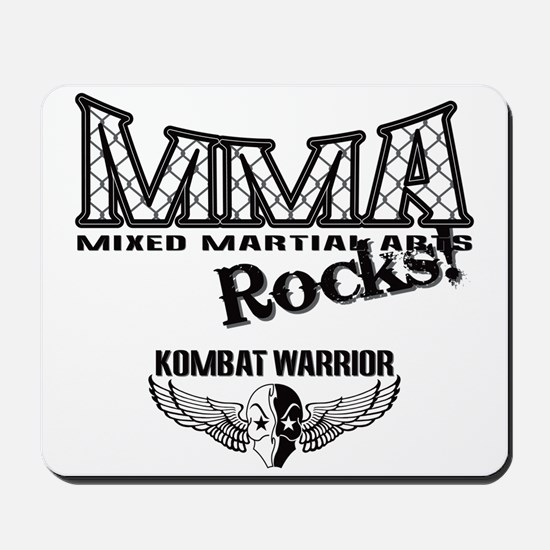 MMA Rocks Grey Mousepad