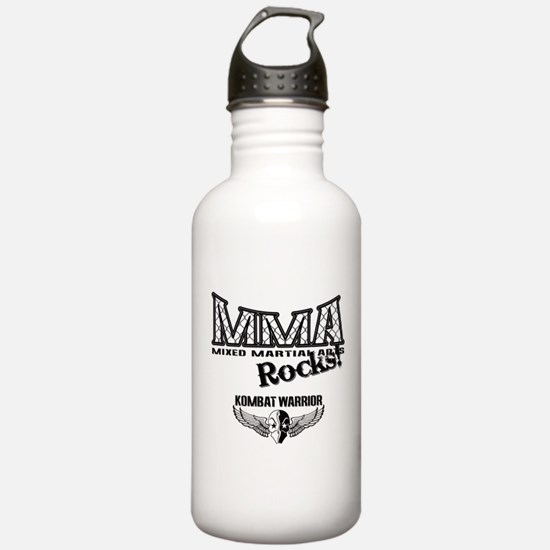 MMA Rocks Grey Water Bottle