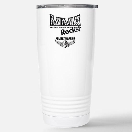 MMA Rocks Grey Stainless Steel Travel Mug