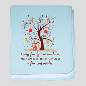 Family Tree Humor baby blanket