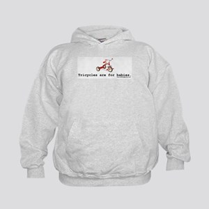 Tricycles are for babies Kids Hoodie